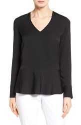 Nordstrom Women's Collection Silk Peplum Blouse