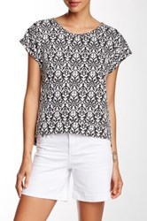 7 For All Mankind Jacquard Dolman Blouse Black