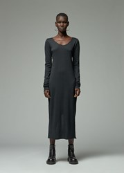 Raquel Allegra 'S Fitted Long Sleeve Dress In Black Size 1 Cotton Viscose Nylon