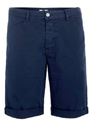 Topman Navy Longer Length Chino Shorts Blue