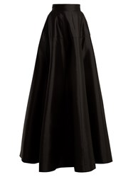 Amanda Wakeley Atelier Wool Blend Satin Maxi Skirt Black