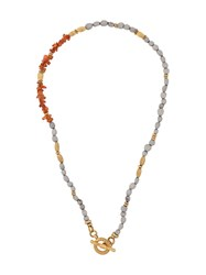 Gas Bijoux Mixed Stones Necklace Gold