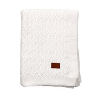 Gant Trellis Knit Throw Eggshell