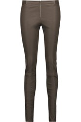 Alice Olivia Leather Leggings Gray