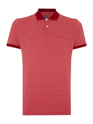 Peter Werth Orwell Stripe Slim Fit Polo Shirt Claret