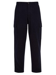 Denis Colomb Voyager Camel Trousers Dark Blue