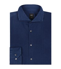 Boss Denim Long Sleeve Shirt Blue