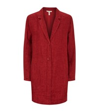 Eileen Fisher Notched Lapel Jacket Female Red