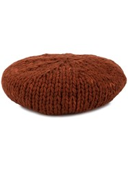 Undercover Cable Knit Beret Red