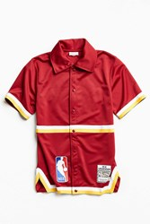 Mitchell And Ness Authentic Nba Cleveland Cavaliers Shooting Shirt Maroon