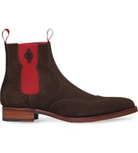 Jeffery West Novikov Suede Chelsea Boots Dark Brown