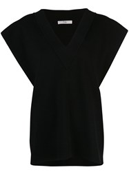 Tibi Sculpted Two Way Sweater Vest Black