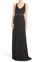 Women's Vera Wang V Neck Jersey Gown