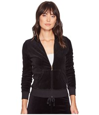 Juicy Couture Fairfax Velour Jacket Pitch Black Women's Coat