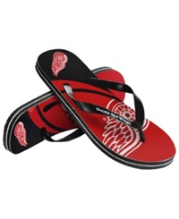 Forever Collectibles Detroit Red Wings Thong Sandals