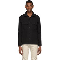 Naked And Famous Denim Black Oxford Rinsed Shirt