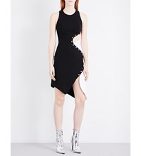 Thierry Mugler Cut Out Scuba Dress Black Off White