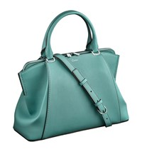 Cartier Small Leather C De Tote Bag Green