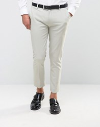 Asos Super Skinny Cropped Trouser In Light Blue Belgium Block