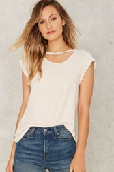 Lna Valley Distressed Tee Tan