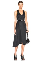 Josh Goot Sleeveless Drape Dress In Black
