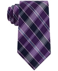 Club Room Men's Traditional Plaid Tie Only At Macy's Purple