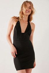 Silence And Noise Plunging Square Neck Halter Dress Black