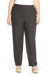 Plus Size Women's Eileen Fisher Washable Stretch Crepe Knit Pants Oregano