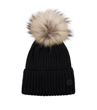 48db545b874 Bogner Fur Pom Pom Hat Black