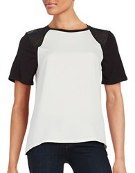 Calvin Klein Jeans Studded Raglan Short Sleeved Hi Lo Top White