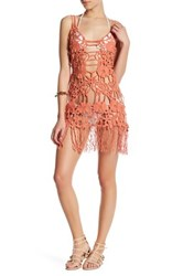 For Love And Lemons Valencia Crochet Lace Cover Up Brown