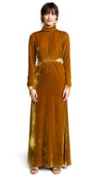 Torn By Ronny Kobo Sova Gown Gold