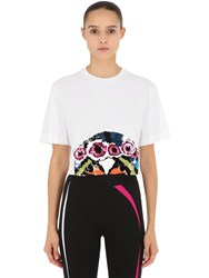 No Ka' Oi Presence 2 Embroidered Cropped T Shirt White