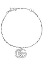 Gucci 18 Karat White Gold Diamond Bracelet Medium