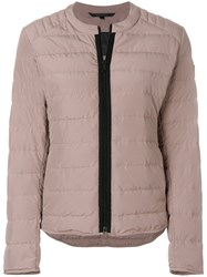 Belstaff Hamford Quilted Down Jacket Pink And Purple