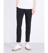 Sandro Smart Tapered Wool Blend Trousers Black