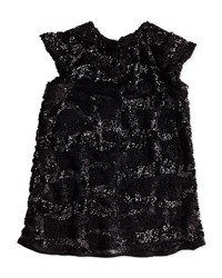 Milly Minis Sequin Cap Sleeve Dress Girls' 2