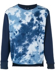 Longjourney Tie Dye Sweatshirt Men Cotton Xl Blue