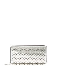 Christian Louboutin Panettone Speccio Embellished Leather Wallet Silver