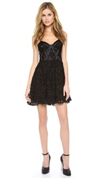 Jill Stuart Lace Bustier Dress Black