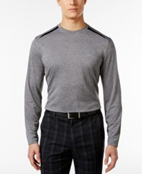 Greg Norman For Tasso Elba Men's Pieced Long Sleeve Performance Shirt Only At Macy's