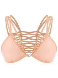 Giuliana Romanno Strappy Bra Yellow And Orange