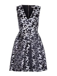 Yumi Black Butterfly Pleated Party Dress Black