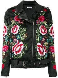 P.A.R.O.S.H. Embroidered Flower Jacket Black