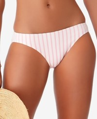 Anne Cole Studio Beach Bunny Striped Bikini Bottoms Swimsuit Coral Stripe