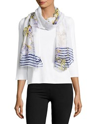 Cejon Lily Bloom Sheer Scarf Cool