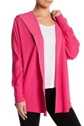 Nanette Lepore Beaded French Terry Cardigan Pink