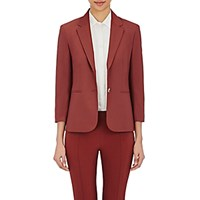 The Row Women's Double Stretch Twill Nopman Jacket Red