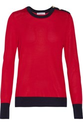 Equipment Ondine Silk And Cashmere Blend Sweater Red