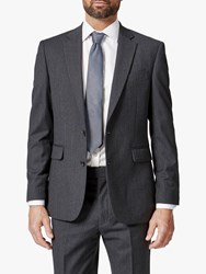 Chester Barrie By Herringbone Wool Cashmere Tailored Suit Jacket Charcoal